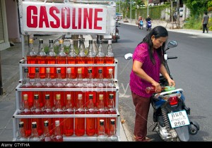 gasoline bottles